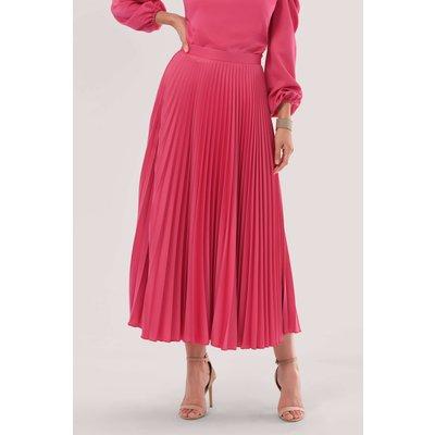 Closet London Pink Pleated Midi Skirt