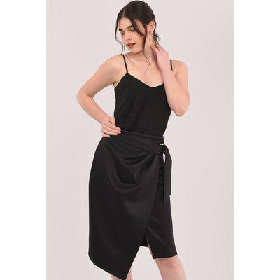 Black Wrap Pencil Skirt