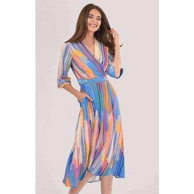 Closet London Blue High-Low Wrap Dress