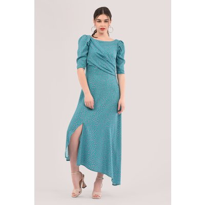 Blue Asymmetrical A-Line Dress
