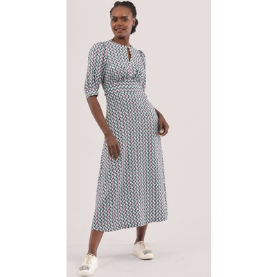 Closet London Multi Short Puff Sleeve Midi Dress