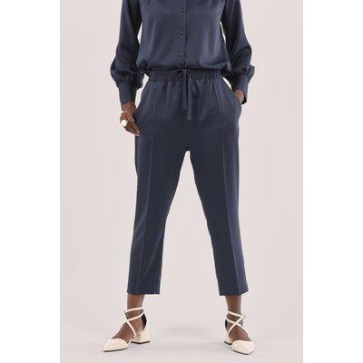 Navy Elasticated Waist Trousers