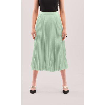 Closet London Mint Pleated Midi Skirt