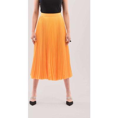Closet London Mustard Pleated Midi Skirt