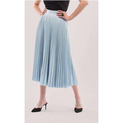 Closet London Blue Sunray Pleated Midi Skirt