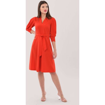 Closet London Red Pleated A-Line Dress