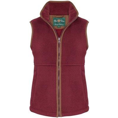 Alan Paine Aylsham Ladies Fleece Waistcoat Bordeaux 14