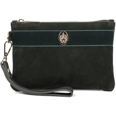 Hicks & Brown Chelsworth Clutch Bag Olive Green One