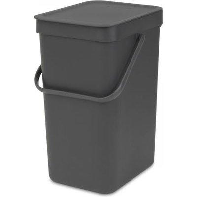 Brabantia Sort & Go Waste Bin 12 Litre Grey