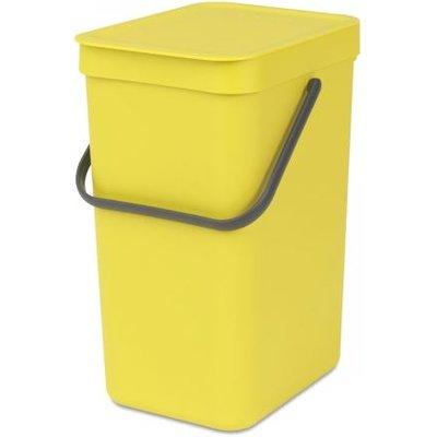 Brabantia Sort & Go Waste Bin 12 Litre Yellow