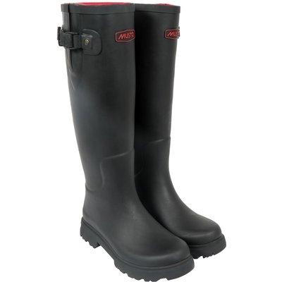 Musto Womens Burghley Wellington Boots Matt Black