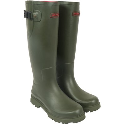 Musto Womens Burghley Wellington Boots Matt Dark Moss