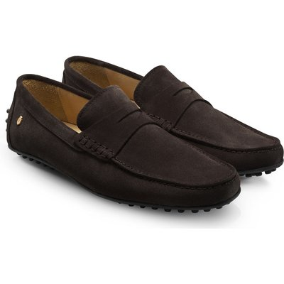 Fairfax & Favor Monte Carlo Loafers Chocolate Suede