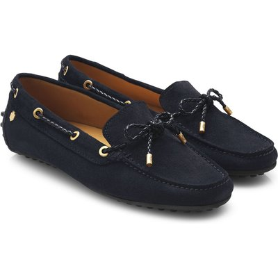 Fairfax & Favor Womens Henley Loafers Navy Suede