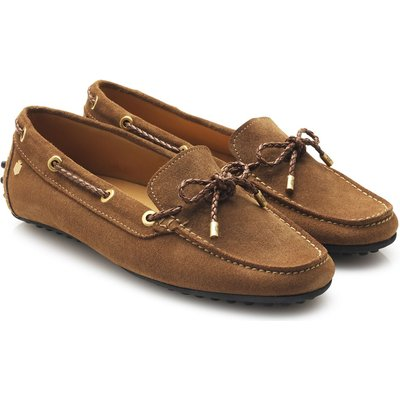 Fairfax & Favor Womens Henley Loafers Tan Suede