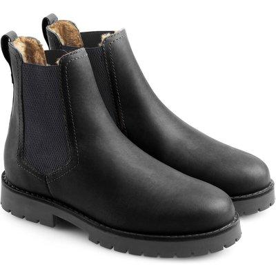 Fairfax & Favor Womens Sheepskin Boudica Boot Black