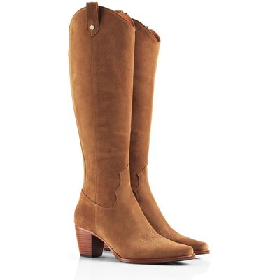 Fairfax & Favor Womens Rockingham Suede Knee High Boot Tan