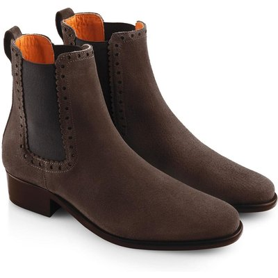 Fairfax & Favor Womens Brogued Chelsea Boot Chocolate