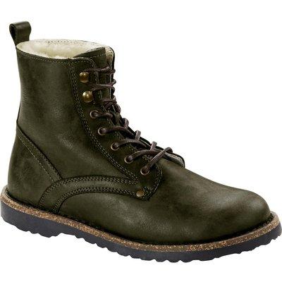 Birkenstock Womens Bryson Shearling Nubuck Leather Boot Hunter Green