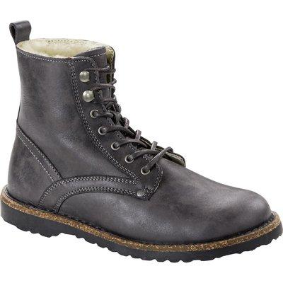 Birkenstock Womens Bryson Shearling Nubuck Leather Boot Graphite