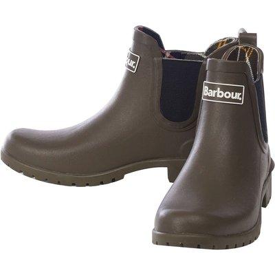 Barbour Womens Wilton Wellington Boots Olive