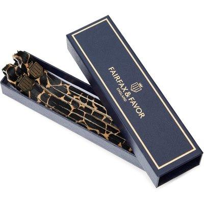 Fairfax & Favor Womens Haircalf Boot Tassels Giraffe Haircalf