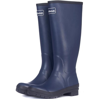 Barbour Womens Abbey Wellington Boots Navy