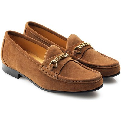 Fairfax & Favor Womens Apsley Suede Loafer Tan