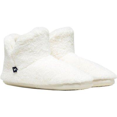 Joules Womens Cabin Luxe Faux Fur Lined Slipper Oat Small