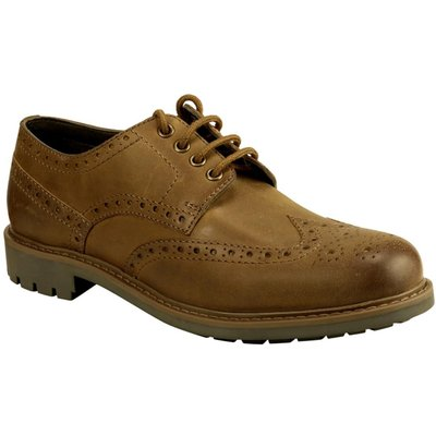 Hoggs Of Fife Mens Inverurie Country Brogue Shoes Walnut