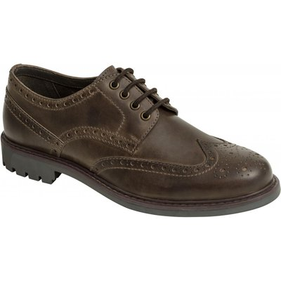 Hoggs Of Fife Mens Inverurie Country Brogue Shoes Waxy Brown