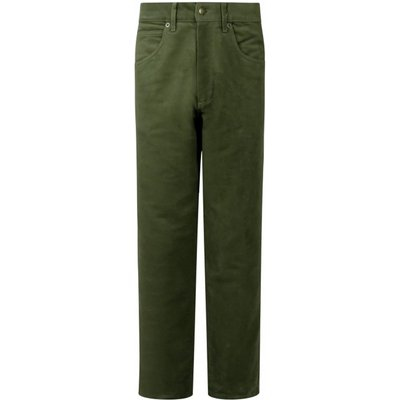 Hoggs Of Fife Mens Moleskin Jeans Dark OliveR