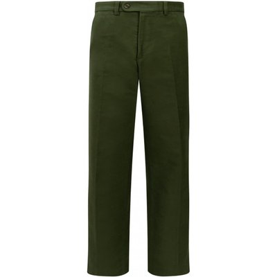 Hoggs Of Fife Mens Monarch Moleskin Trousers Dark OliveR