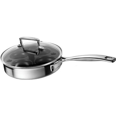 Le Creuset 3 Ply Stainless Steel Saute Pan With Poaching Insert
