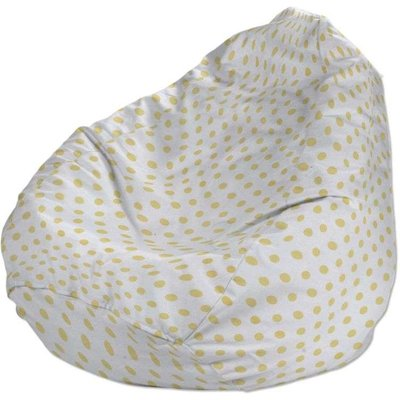 Beanbag, yellow spots on white background