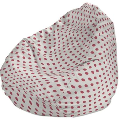 Beanbag, red spots on white background