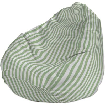 Beanbag, green and white stripes (1.5cm)
