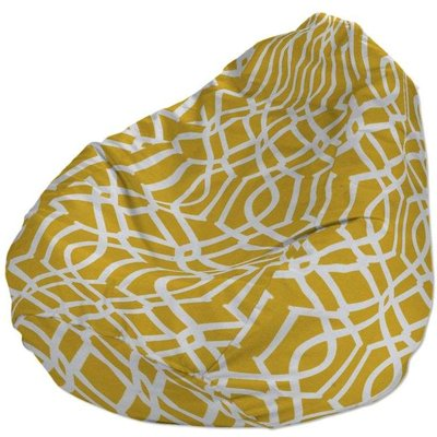 Beanbag, white pattern on yellow/mustard background