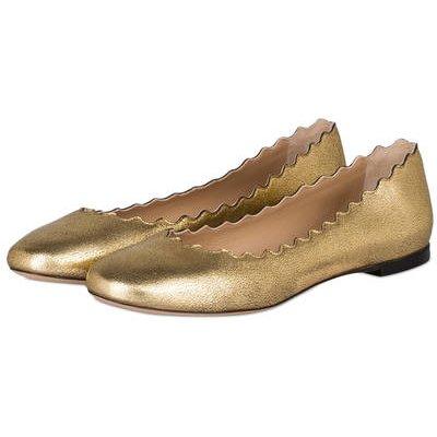 Chloé Ballerinas Lauren gold
