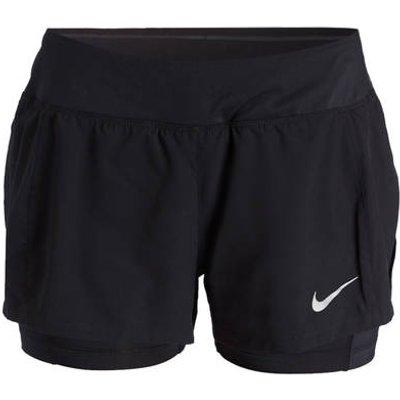 NIKE Nike 2-In-1 Laufshorts Eclipse Flex schwarz