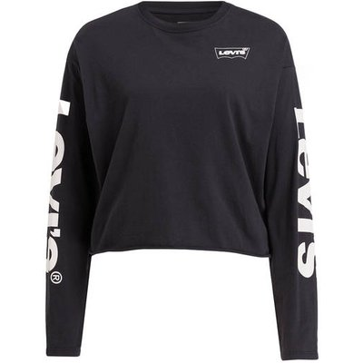 LEVI'S Levi's® Cropped-Sweatshirt grau