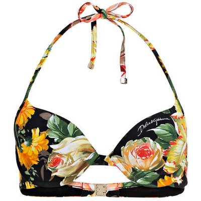 DOLCE & GABBANA Dolce&Gabbana Neckholder-Bikini-Top schwarz