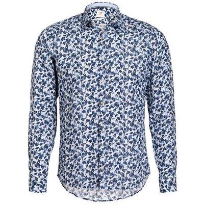 OLYMP Olymp Leinenhemd Level Five Body Fit blau