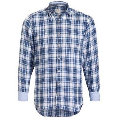 OLYMP Olymp Leinenhemd Level Five Casual Body Fit blau