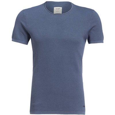 OLYMP Olymp Strick-Shirt Level Five Body Fit blau