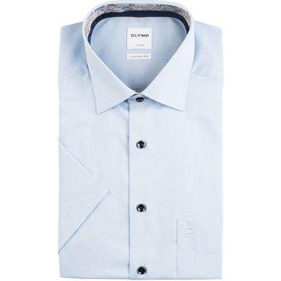OLYMP Olymp Halbarm-Hemd Luxor Comfort Fit blau