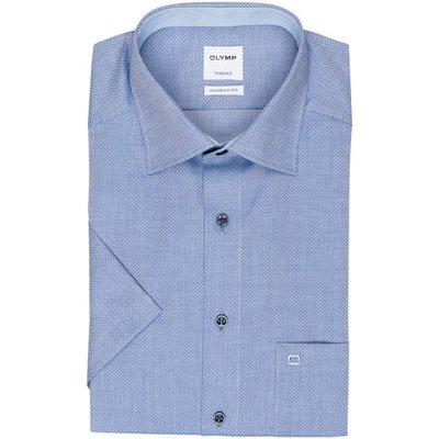 OLYMP Olymp Halbarm-Hemd Tendenz Modern Fit blau