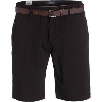 S.Oliver Chino-Shorts Plek schwarz