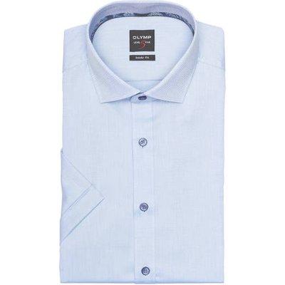 Olymp Halbarm-Hemd Level Five Body Fit blau