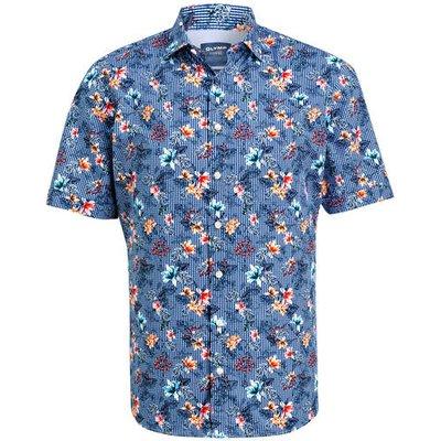 OLYMP Olymp Halbarm-Hemd  Casual Modern Fit blau